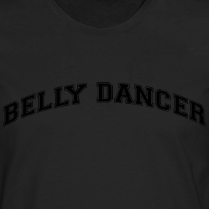 belly dancer college style curved logo - Men's Premium Longsleeve Shirt
