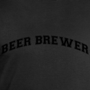beer brewer college style curved logo - Men's Sweatshirt by Stanley & Stella