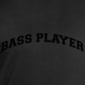 bass player college style curved logo - Men's Sweatshirt by Stanley & Stella