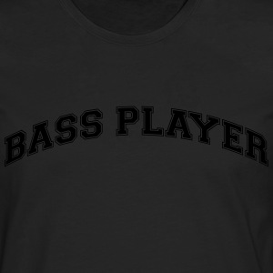 bass player college style curved logo - Men's Premium Longsleeve Shirt