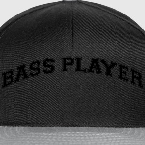 bass player college style curved logo - Snapback Cap