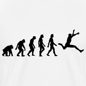 The evolution of long jump  Aprons - Men's Premium T-Shirt