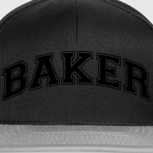 baker college style curved logo - Snapback Cap