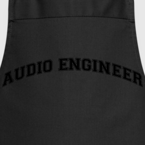 audio engineer college style curved logo - Cooking Apron