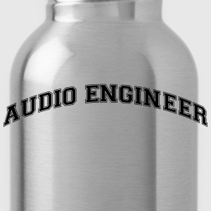 audio engineer college style curved logo - Trinkflasche