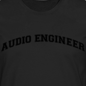 audio engineer college style curved logo - Männer Premium Langarmshirt