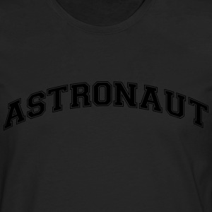 astronaut college style curved logo - Men's Premium Longsleeve Shirt