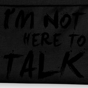 I´m Not Here To Talk - Bodybuilding, Fitness T-Shirts - Kids' Backpack