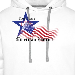 Free Since 1776 American Patriot T-Shirts - Men's Premium Hoodie