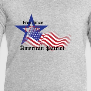 Free Since 1776 American Patriot T-Shirts - Men's Sweatshirt by Stanley & Stella