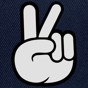 Peace sign hand peace cool T-Shirts - Snapback Cap