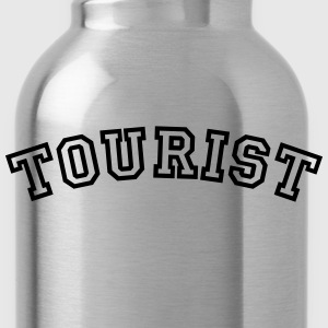 tourist curved college style logo - Water Bottle