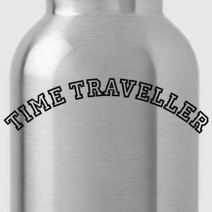 time traveller curved college style logo - Water Bottle