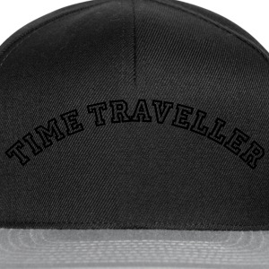 time traveller curved college style logo - Snapback Cap