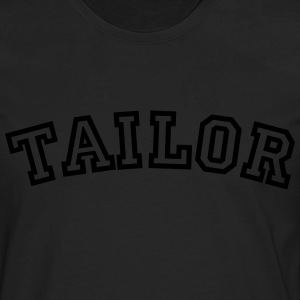 tailor curved college style logo - Men's Premium Longsleeve Shirt