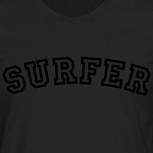surfer curved college style logo - Men's Premium Longsleeve Shirt