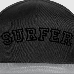 surfer curved college style logo - Snapback Cap