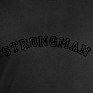 strongman curved college style logo - Men's Sweatshirt by Stanley & Stella