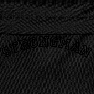 strongman curved college style logo - Kids' Backpack