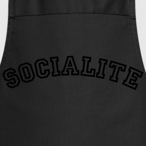 socialite curved college style logo - Cooking Apron