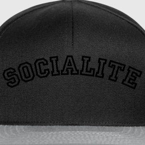socialite curved college style logo - Snapback Cap