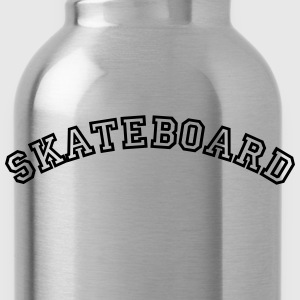 skateboard curved college style logo - Water Bottle