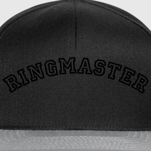 ringmaster curved college style logo - Snapback Cap
