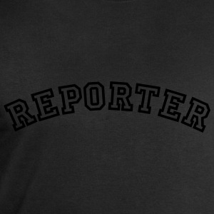 reporter curved college style logo - Men's Sweatshirt by Stanley & Stella