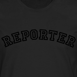 reporter curved college style logo - Männer Premium Langarmshirt