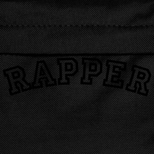 rapper curved college style logo - Kids' Backpack