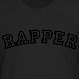 rapper curved college style logo - Men's Premium Longsleeve Shirt