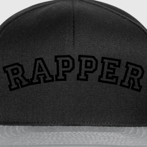 rapper curved college style logo - Snapback Cap