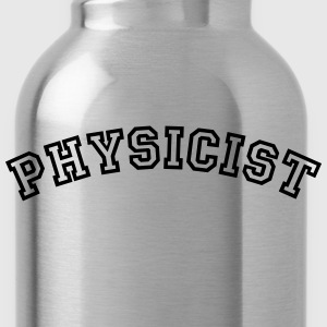 physicist curved college style logo - Water Bottle