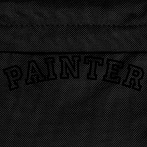 painter curved college style logo - Kids' Backpack