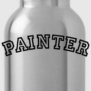 painter curved college style logo - Water Bottle