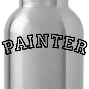 painter curved college style logo - Trinkflasche