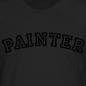 painter curved college style logo - Men's Premium Longsleeve Shirt
