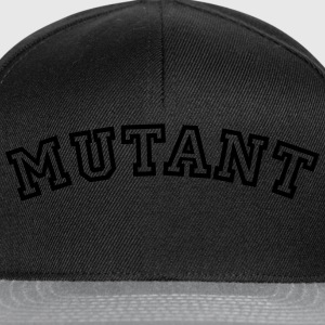 mutant curved college style logo - Snapback Cap