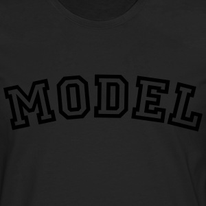 model curved college style logo - Men's Premium Longsleeve Shirt