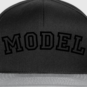 model curved college style logo - Snapback Cap
