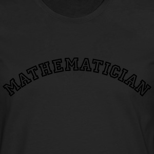 mathematician curved college style logo - Männer Premium Langarmshirt