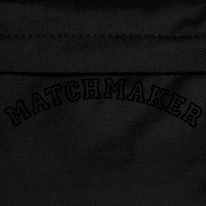matchmaker curved college style logo - Kids' Backpack