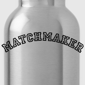 matchmaker curved college style logo - Water Bottle