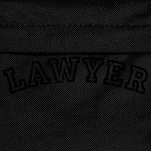 lawyer curved college style logo - Kids' Backpack