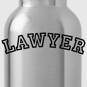lawyer curved college style logo - Water Bottle