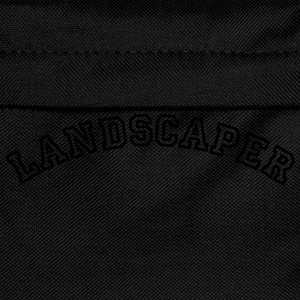 landscaper curved college style logo - Kids' Backpack