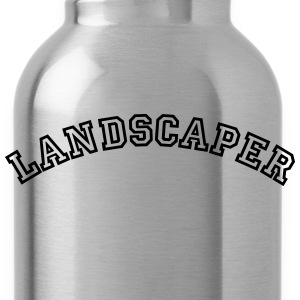 landscaper curved college style logo - Water Bottle