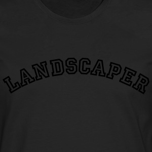 landscaper curved college style logo - Men's Premium Longsleeve Shirt