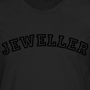 jeweller curved college style logo - Men's Premium Longsleeve Shirt