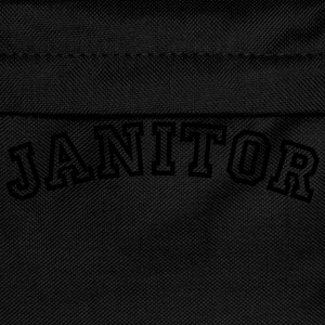 janitor curved college style logo - Kids' Backpack